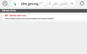 CBN website shuts down by unknown
